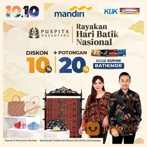 INDOMARET Promo Mandiri Rayakan Hari Batik Nasional Diskon 10%* (28375147) di Kota Jakarta Selatan