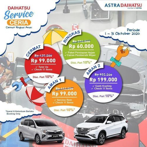 Daihatsu Service Ceria Promo (28381055) di Kota Jakarta Selatan