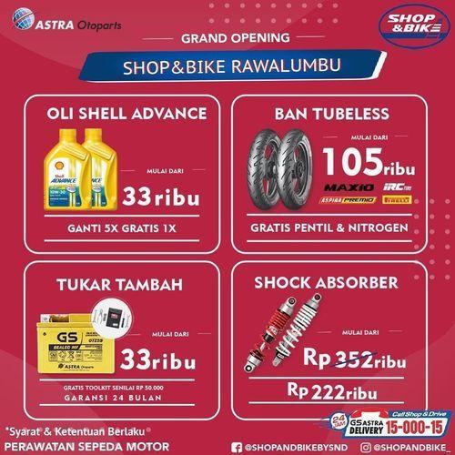 Shop&Bike Promo Spesial Grand Opening (28381175) di Kota Jakarta Selatan