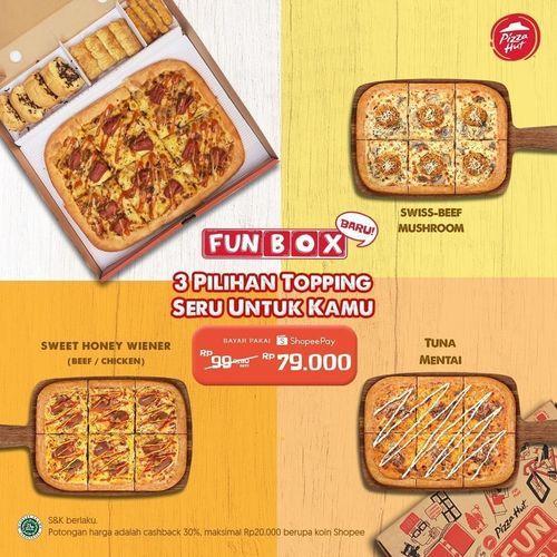 Pizza Hut FUNBOX 3 TOPPING SERU PROMO DARI PIZZA HUT! (28448403) di Kota Jakarta Selatan