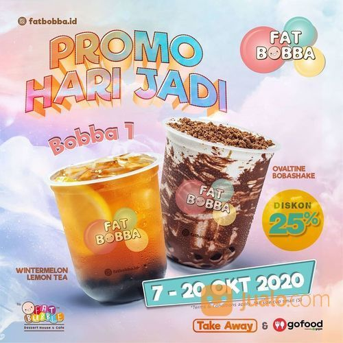 FatBubble Disc. 25% di Hari Jadi GoFood! (28451995) di Kota Jakarta Selatan