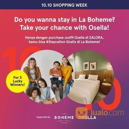 ZALORA 10.10 Shopping Week Giveaway Special nih buat kamu karena hadiahnya #Staycation! (28453183) di Kota Jakarta Selatan