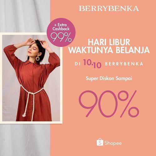 Berrybenka Diskon 90% + extra cashback 99% (28462271) di Kota Jakarta Selatan