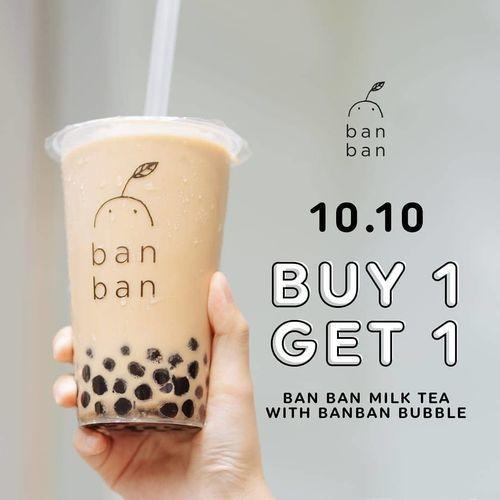 BAN BAN Buy 1 Get 1 Milk Tea (28462299) di Kota Jakarta Selatan