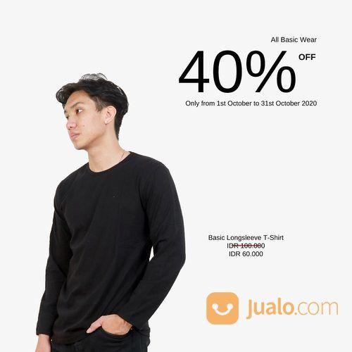 Wearblack.id Get 40% discount for all basic wear by Zalmore (28462419) di Kota Jakarta Selatan