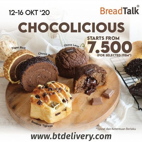Breadtalk Chocolicious Start Form 7.500 (28462459) di Kota Jakarta Selatan