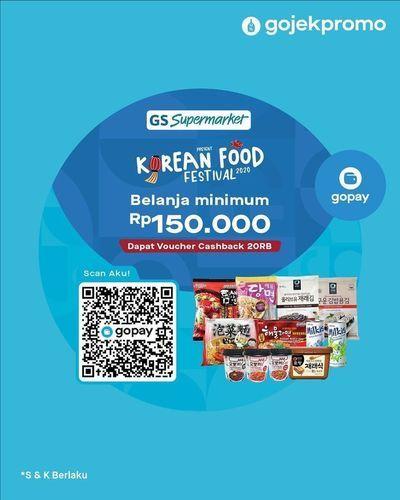 Gojek Korean Food Voucher Cashback Ro. 20.000 (28463203) di Kota Jakarta Selatan