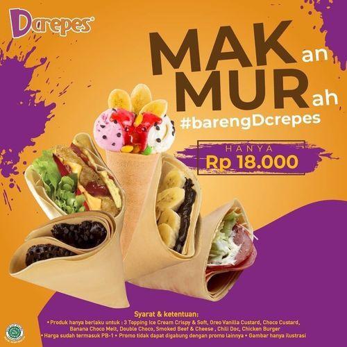 D'Crepes Promo Makmur Rp. 18.000 (28468335) di Kota Jakarta Selatan
