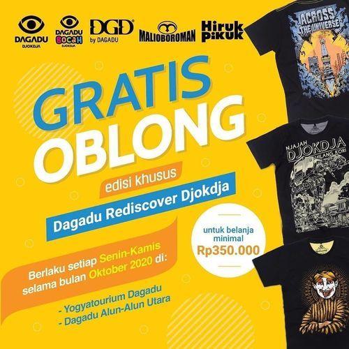 Dagadu Djogdja Promo Gratis Oblong (28468583) di Kota Jakarta Selatan