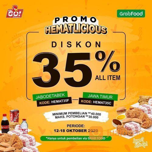 Let's Go Chocken Diskon Grabfood 35% (28503099) di Kota Jakarta Selatan