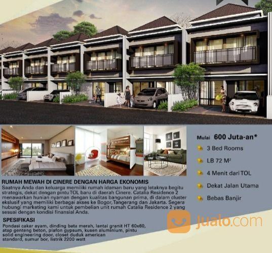 Rumah Cluster 2 Lt Dkt Mesjid Kubah Mas 800 Jt An Di Meruyung Depok (28506191) di Kota Depok