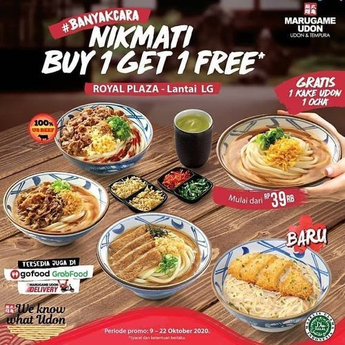Marugame Udon Opening Promo Buy 1 Get 1 (28525895) di Kota Jakarta Selatan
