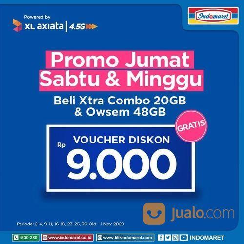 INDOMARET PROMO setiap hari Jumat, Sabtu dan Minggu beli Xtra Combo 20GB & OWSEM 48GB DISKON RP 9000 (28539323) di Kota Jakarta Selatan