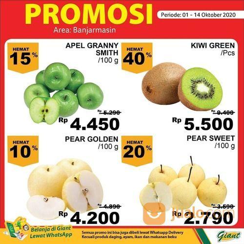 Giant Promo KHUSUS AREA BANJARMASIN aneka buah, sayur, ikan, dan daging. Hemat hingga 50% lho (28539475) di Kota Jakarta Selatan