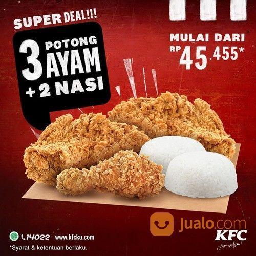 KFC Promo 3 potong ayam KFC + 2 nasi mulai dari Rp 45.455! (28569371) di Kota Jakarta Selatan
