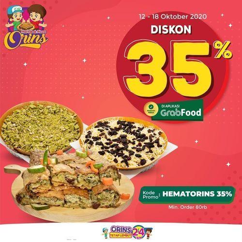 Martabak Pizza Orins Diskon 35% Off Grabfood (28595607) di Kota Jakarta Selatan