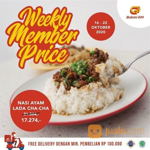 Bakmi GM Weekly Member Price (28606883) di Kota Jakarta Selatan