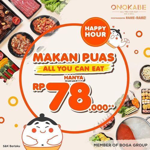 Onokabe All You Can Eat Rp. 78.000 (28636547) di Kota Jakarta Selatan