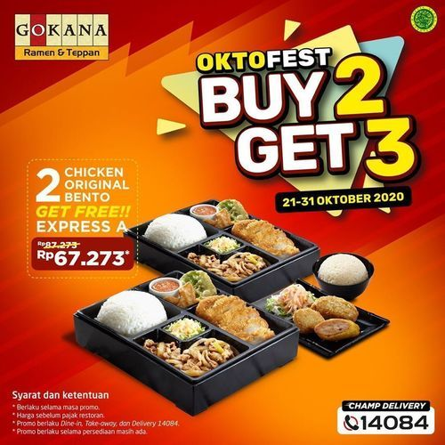 Gokana Ramen Teppan Oktofest Buy 2 Get 3 (28672519) di Kota Jakarta Selatan