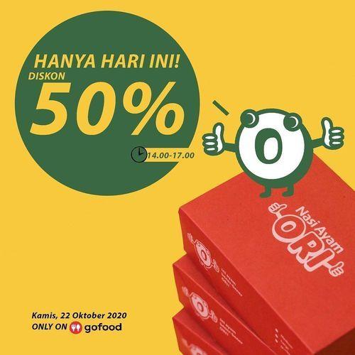 Nasi Ayam Ori Diskon 50% (28672555) di Kota Jakarta Selatan