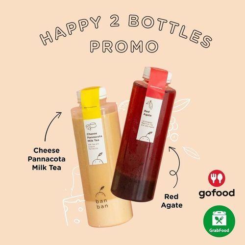 BAN BAN Cheese Tea Happy 2 Bottles Promo (28672863) di Kota Jakarta Selatan