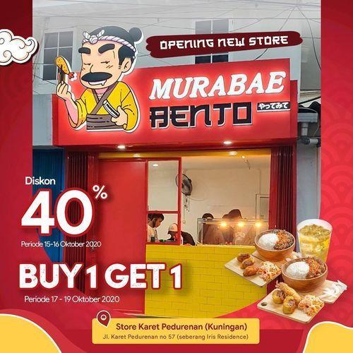 Murabae Bento Diskon 40% Buy 1 Get 1 (28673415) di Kota Jakarta Selatan