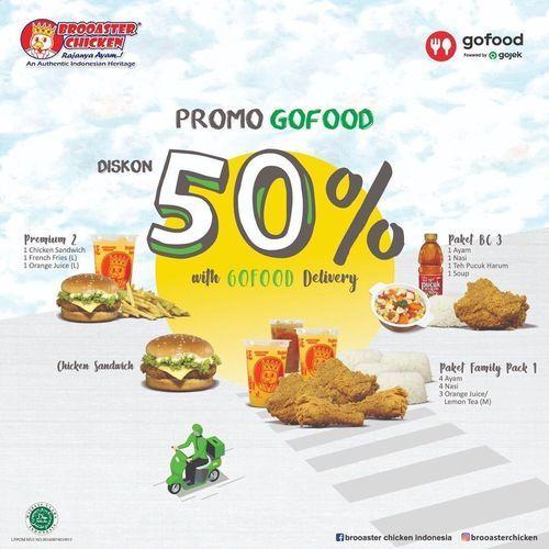 Brooaster Chicken Promo Gofood 50% Off (28692879) di Kota Jakarta Selatan