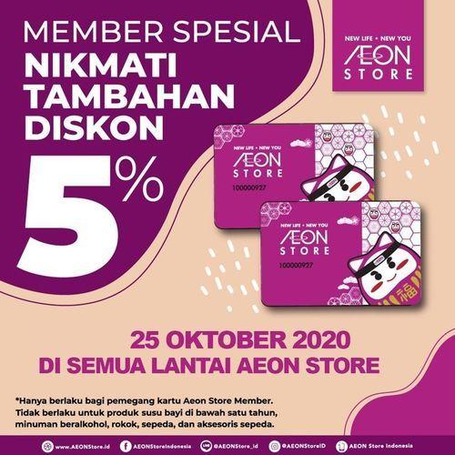 AEON Store Member Spesial Diskon 5% (28693339) di Kota Jakarta Selatan
