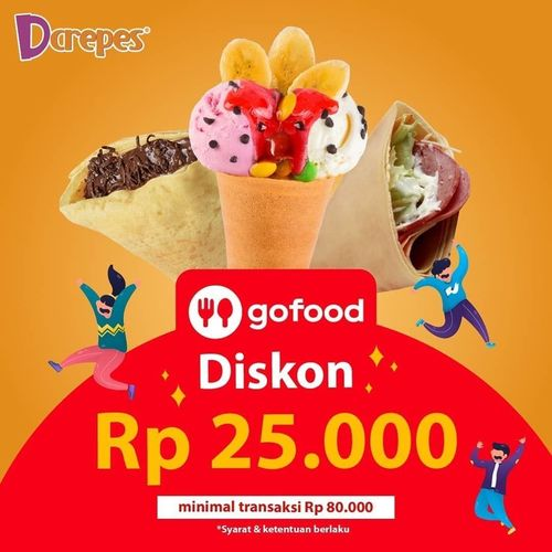 D'Crepes Gofood Diskon RP. 25.000 (28697487) di Kota Jakarta Selatan