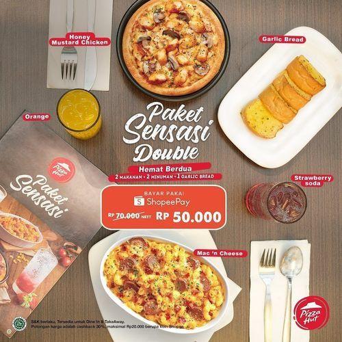 Sensasi Double dari Pizza Hut! Makan berdua bisa tetap hemat & nikmat, bayar dengan ShopeePay* (28697507) di Kota Jakarta Selatan