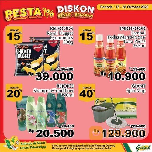 Giant Pesta Diskon Besar-besaran Promo menarik makanan dan minuman, body wash, pewangi, dan lainnya (28700247) di Kota Jakarta Selatan