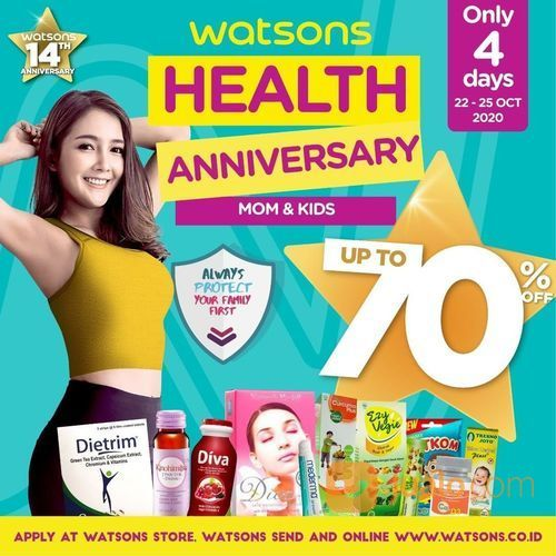 Watsons Health Anniversary Diskon up to 70% (28703447) di Kota Jakarta Selatan