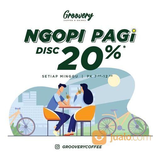 Groovery Coffee and Drinks NGOPI PAGI Diskon 20% (28703723) di Kota Surabaya