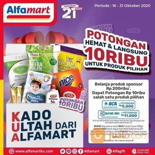 Kado Semarak 21 Tahun #Alfamart Beli 2 Gratis 1 & Potongan Hemat & Langsung senilai 10rb* (28705811) di Kota Jakarta Selatan