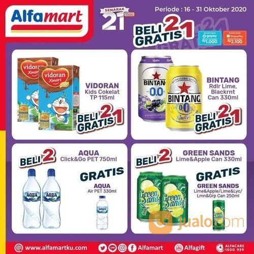 Kado Semarak 21 Tahun #Alfamart Beli 2 Gratis 1 & Potongan Hemat & Langsung senilai 10rb* (28705827) di Kota Jakarta Selatan