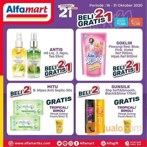 Kado Semarak 21 Tahun #Alfamart Beli 2 Gratis 1 & Potongan Hemat & Langsung senilai 10rb* (28705835) di Kota Jakarta Selatan