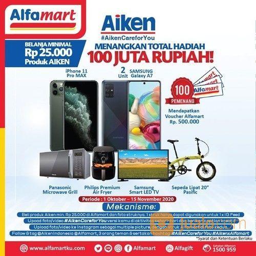 Alfamart #AikenCareforYou Photo & Video Competition untuk raih total hadiah senilai Rp 100juta ! (28707743) di Kota Jakarta Selatan