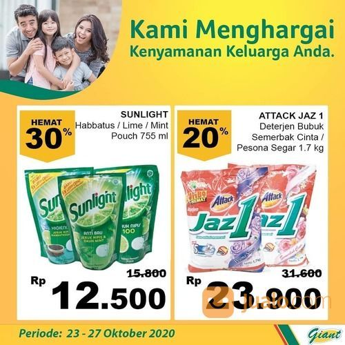 Giant Promo Dapatkan diskon hingga 30% untuk produk SUNLIGHT (28711343) di Kota Jakarta Selatan