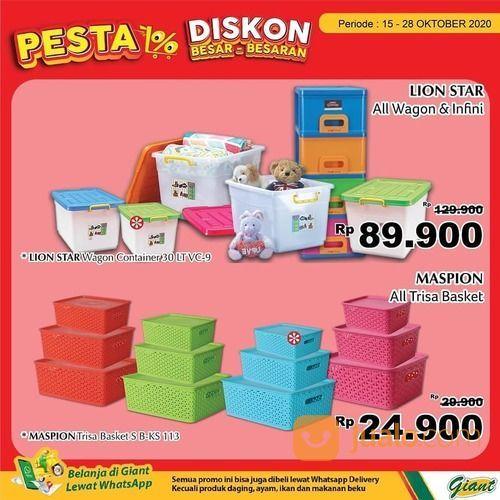 Giant harga spesial aneka container box, tempat makan, rak, hingga laci susun di store Giant Ekstra (28711355) di Kota Jakarta Selatan