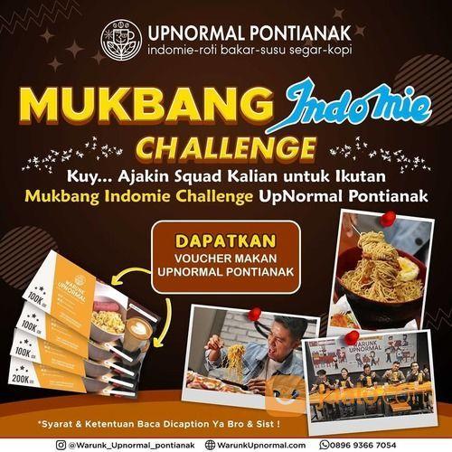 Warunk UpNormal Pontianak MUKBANG INDOMIE CHALLENGE UPNORMAL PONTIANAK (28713287) di Kota Pontianak