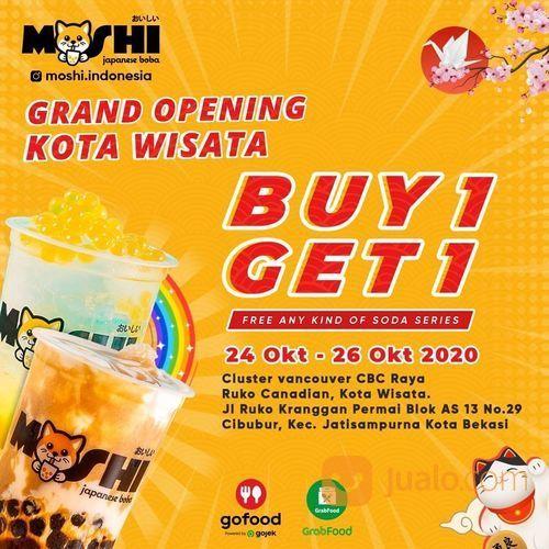 Grand Opening @moshi.indonesia di Kota Wisata! Promo Buy 1 Get 1 Free Any Kind of Soda Series (28718443) di Kota Jakarta Selatan