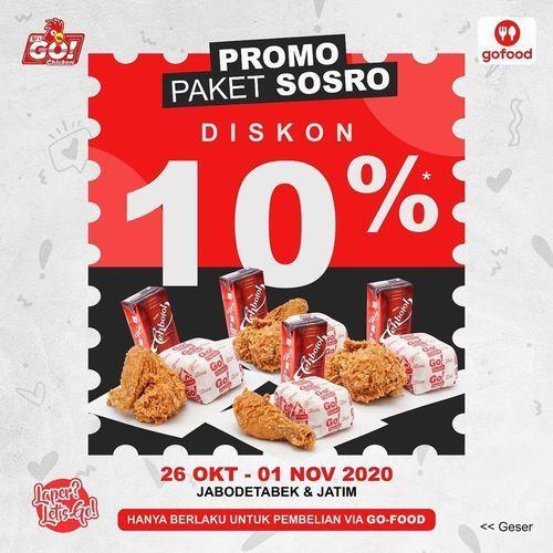 LetsGo Chicken Promo Paket Sosro Diskon 10% (28737559) di Kota Jakarta Selatan
