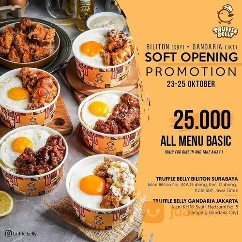 Truffle Belly Soft Opening Promo *25.000 ALL MENU BASIC* (28745731) di Kota Jakarta Selatan