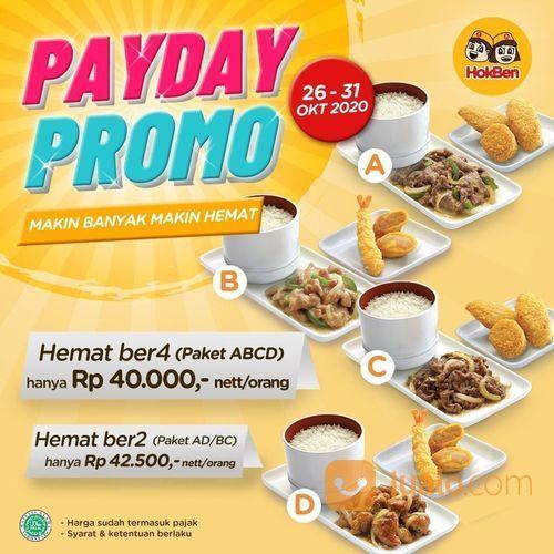 HokBen PAYDAY Promo Paket ABCD & Promo HOMAT (28751979) di Kota Jakarta Selatan