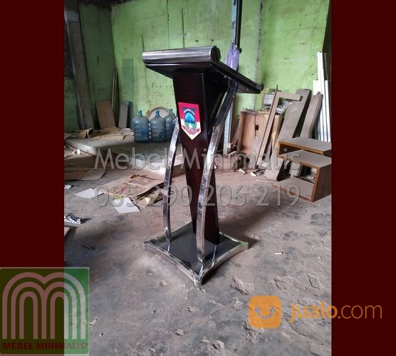 Spesial Promo Podium Pidato Minimalis Model Produk Terbaru Atau Mimbar Pidato Minimalis Stainless (28818231) di Kab. Padang Pariaman