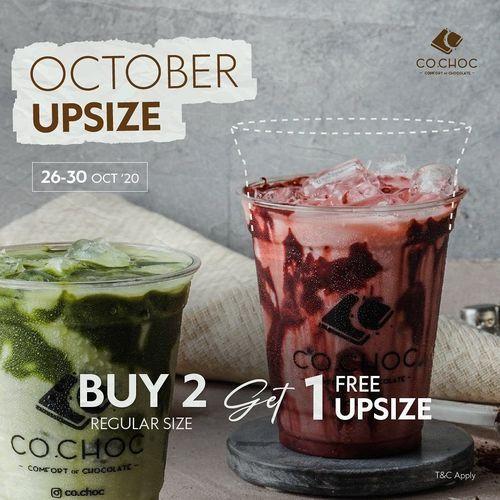 Co.Choc October Upsize Buy 2 Get 1 Free (28855935) di Kota Jakarta Selatan