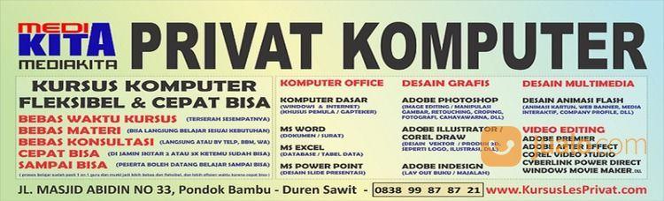 Les Desain Grafis Kursus Komputer Office Dll Privat Editing Photoshop Corel AI ID Video AP AE FLA (28895355) di Kota Jakarta Timur