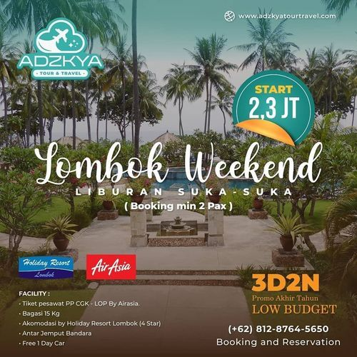 Adzkya Tour Lombok Weekend (28949098) di Kota Jakarta Selatan