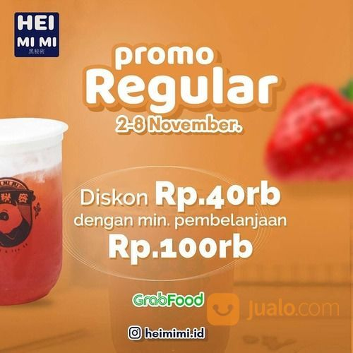 Heimimi Promo Regular Diskon 40rb Derrngan min. pembelanjaan Rp 100rb! (28952279) di Kota Jakarta Selatan