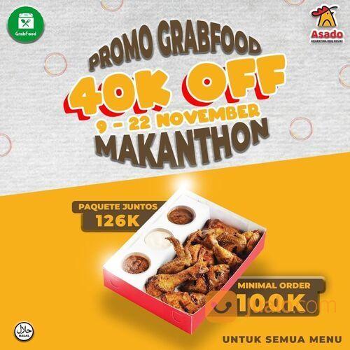 Asado Grill DISKON 40K DENGAN BELANJA 100K Ada Periode MAKANTHON dari GRAB ! (28952308) di Kota Jakarta Selatan